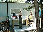 Campers' dishwashing area